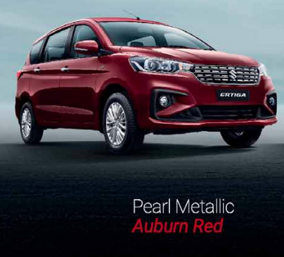 2019 Maruti Ertiga Red Color Option - 2019 Ertiga Auburn Red Color