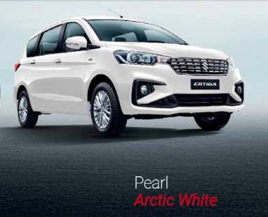 2019 Maruti Ertiga Pearl Arctic White Color - 2019 Maruti Ertiga White Color