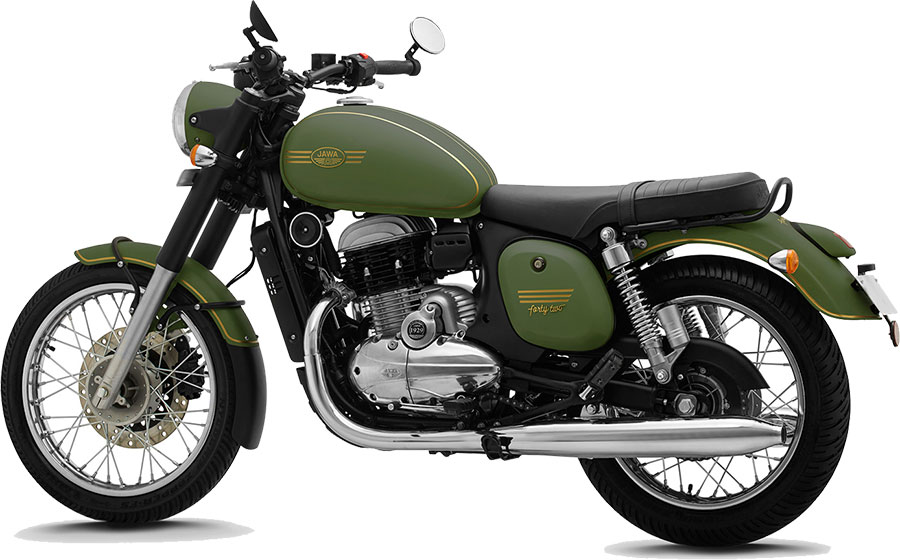 JAWA 42 Green Color - JAWA 42 Galactic Green Color