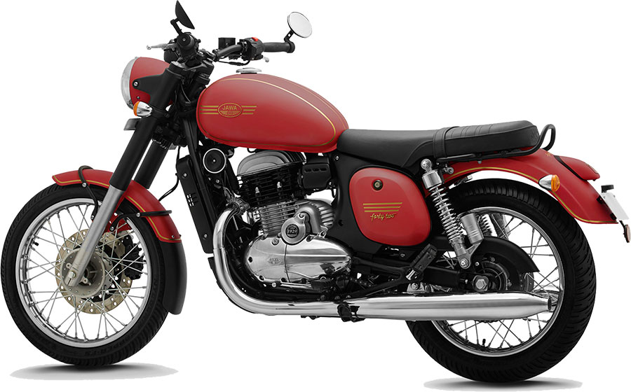JAWA 42 Red Color - jawa 42 comet red color