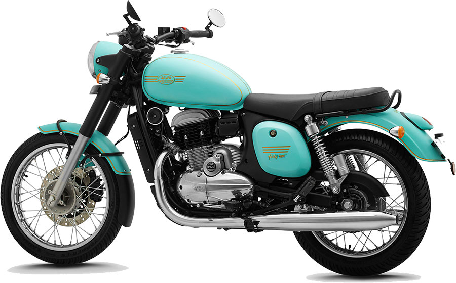 JAWA 42 Teal Color - JAWA 42 Halley's Teal color