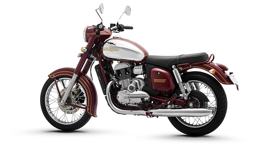 Jawa Maroon Color Option