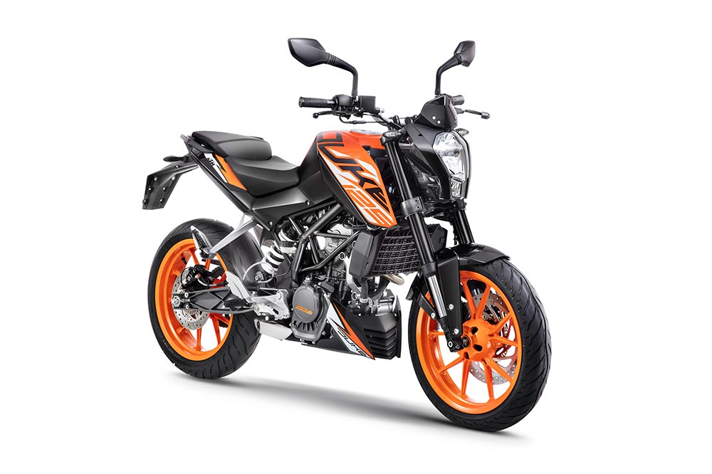 New KTM Duke 125 Orange Color - 2018 KTM Duke 125 ABS in Orange Color