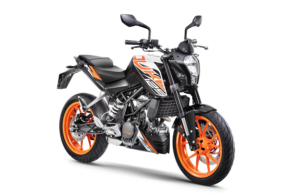 New KTM Duke 125 White Color - New KTM 125 Duke ABS White Color