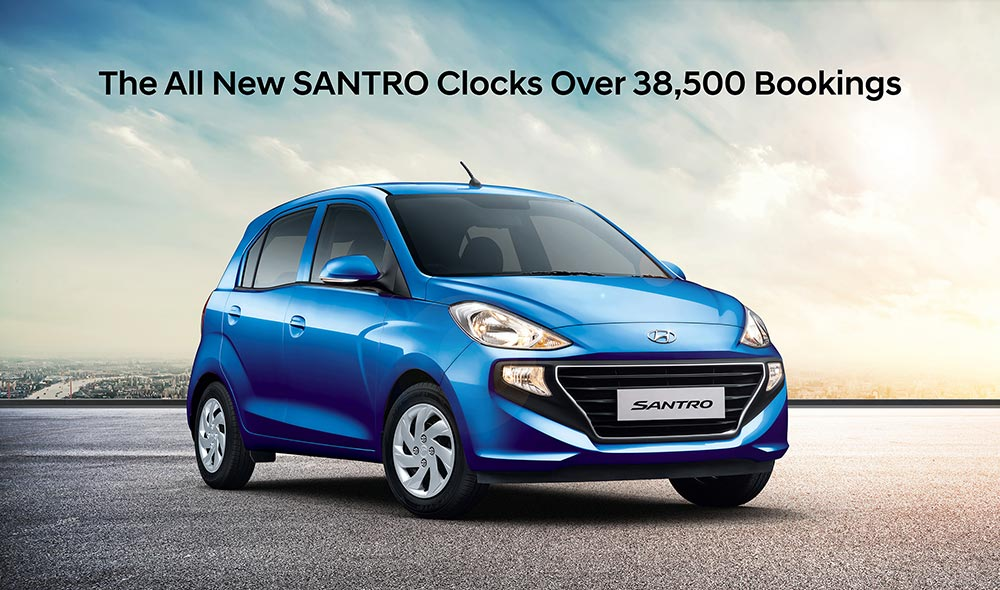 All New 2018 Santro Bookings