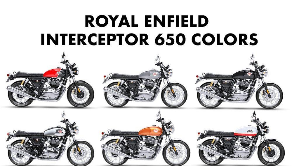Royal Enfield Interceptor 650 Colors Six Color Options Gaadikey