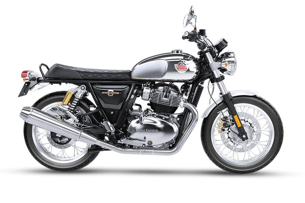 Royal Enfield Interceptor Silver Glitter Dust Color - Interceptor 650 Glitter and Dust Color - Intercepter 650 Glitter & Dust Color