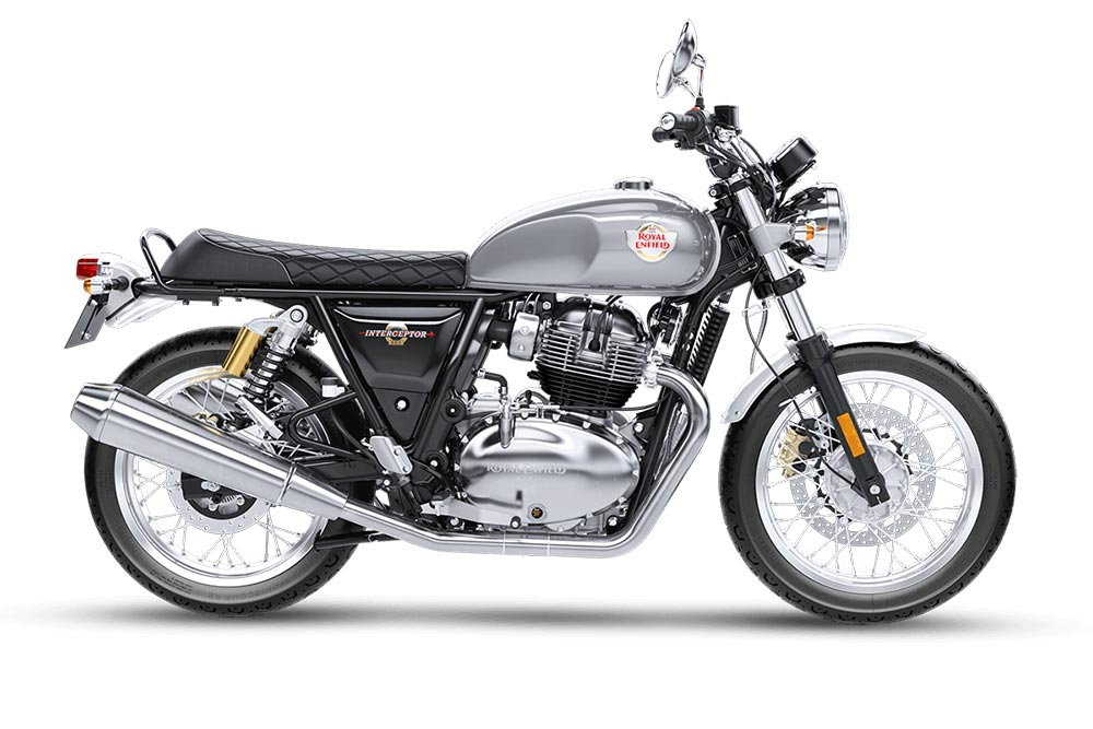 Royal Enfield Interceptor 650 Silver Spectre Color - Intercepter 650 Silver Color Option