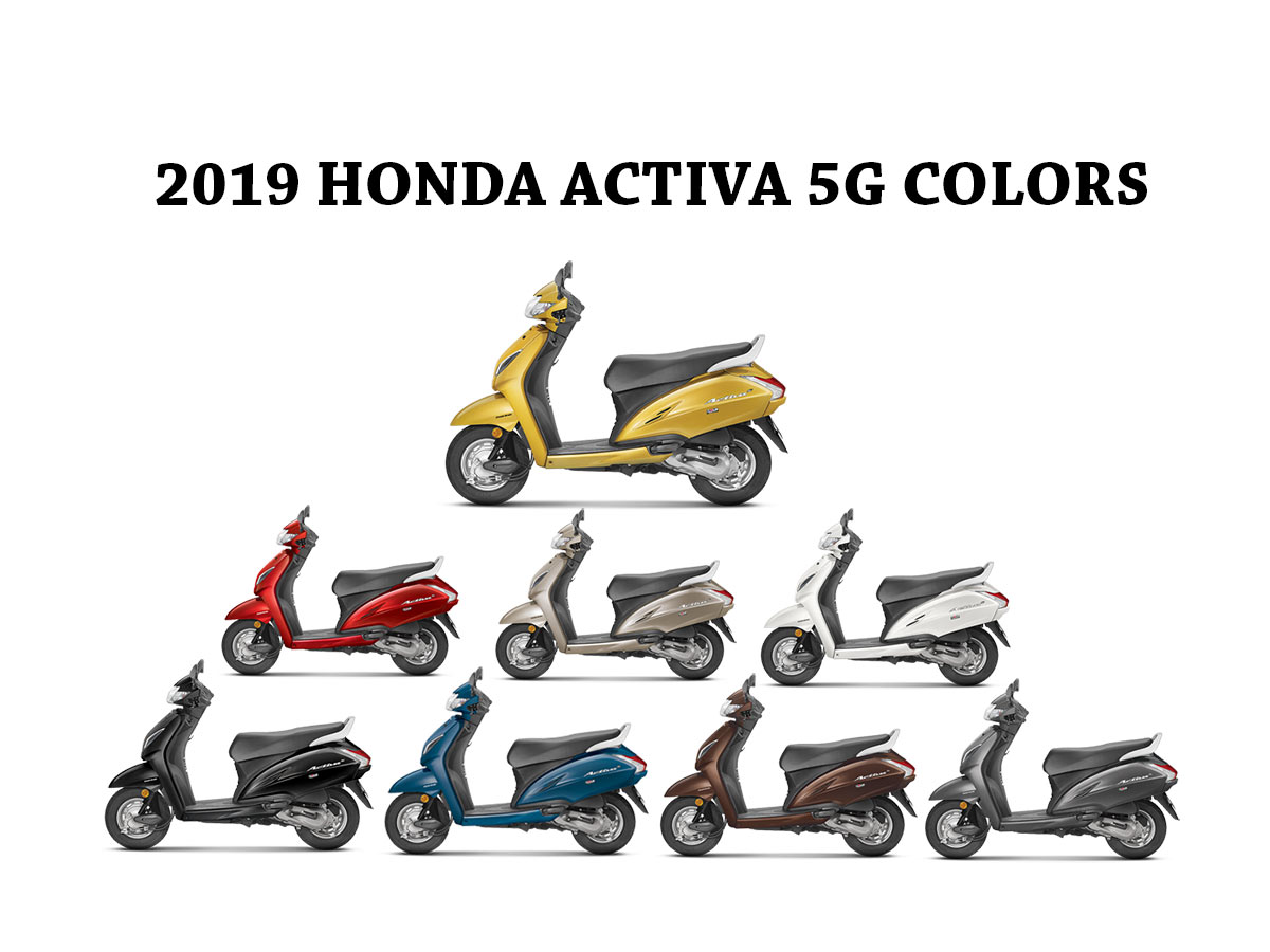 2019 Activa 5G Colors - All New Activa 5G All Colors-
