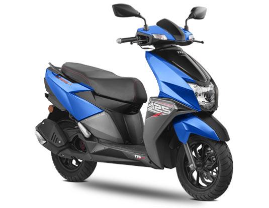 2020 TVS Ntorq 125 Blue Color - TVS Ntorq 125 Metallic Blue Color option