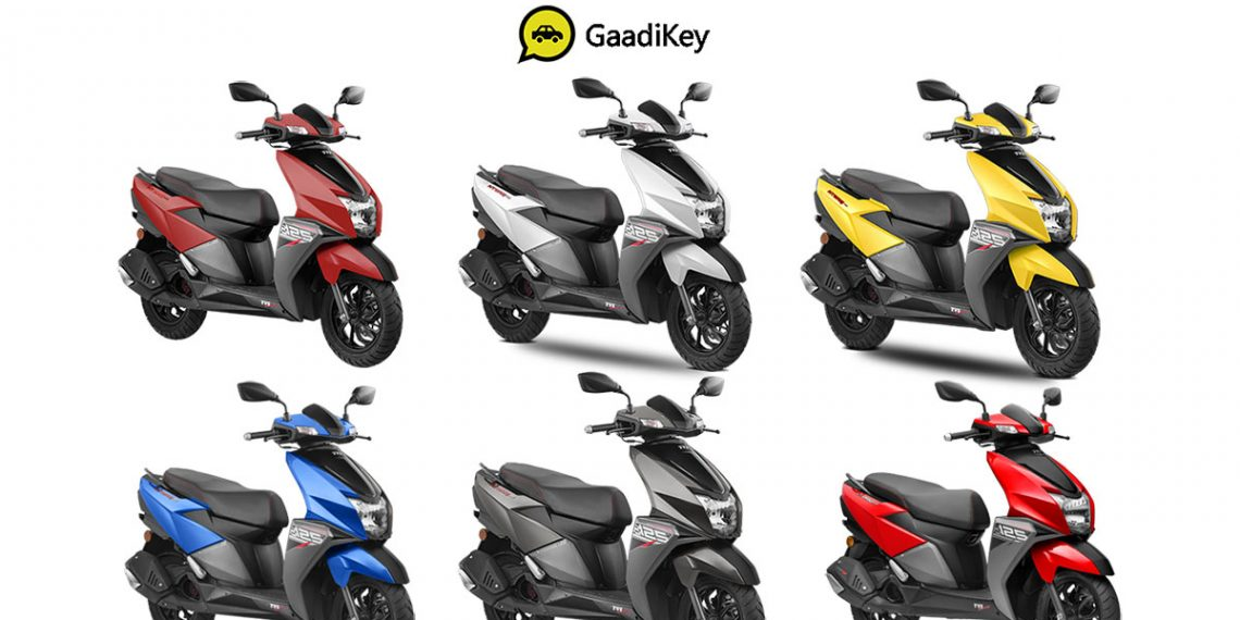 2019 Tvs Ntorq 125 Colors Yellow Red White Grey Blue Red
