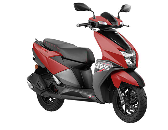 2020 TVS NTORQ 125 Matte Red Color - New NTORQ 2020 Model Red Color option