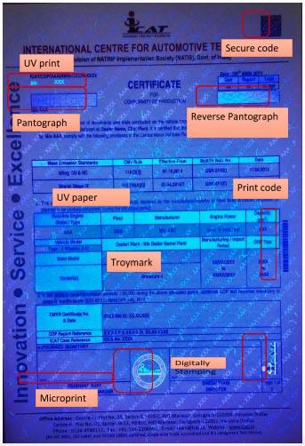 ICAT High Security Certificate