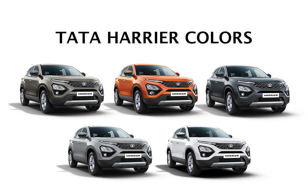 Tata Harrier Colors - All Tata Harrier Colors - Tata Harrier in All Colors - Tata Harrier in all color options