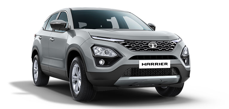 2020 Tata Harrier Silver Color - Tata Harrier in Ariel Silver Color Option- Tata Harrier 2020 model Silver color