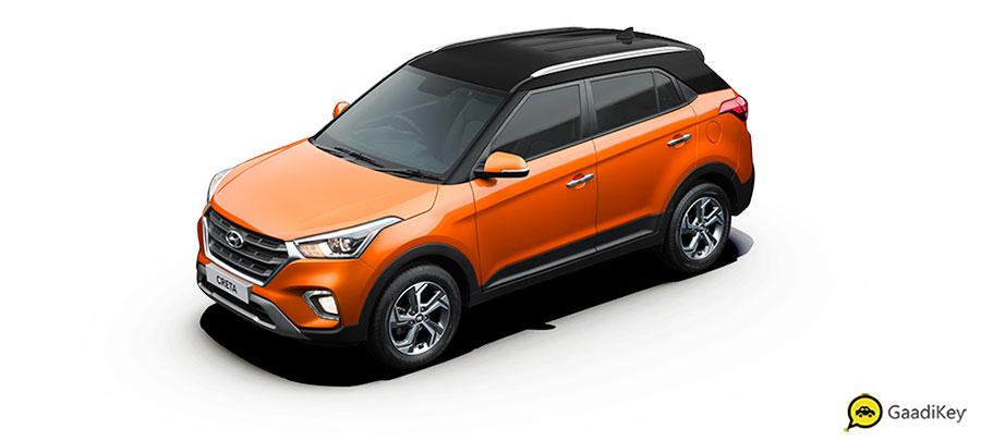 2019 Hyundai Creta Passion Orange Dualtone color - New 2019 Creta Orange Dual Tone color