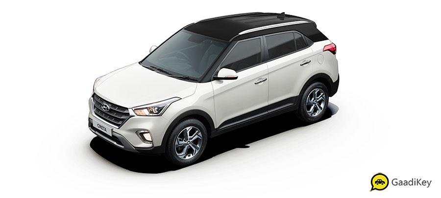 2019 Hyundai Creta Polar White Dual Tone Color - New 2019 Creta White dualtone color
