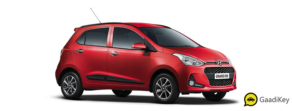 2019 Hyundai Grand i10 Red Color - Fiery Red Color