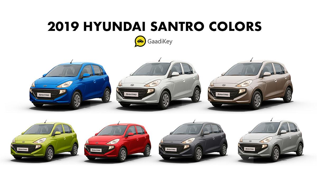 2019 Santro All Colors - 2019 Hyundai Santro Colors - 2019 Hyundai Santro All Colors