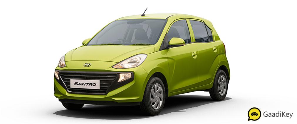 2019 Hyundai Santro Diana Green Color - 2019 model Hyundai Santro Green Color