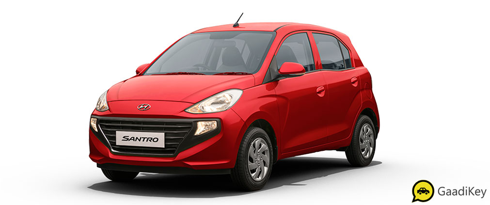 2019 Hyundai Santro Fiery Red Color - 2019 Hyundai Santro Red Color