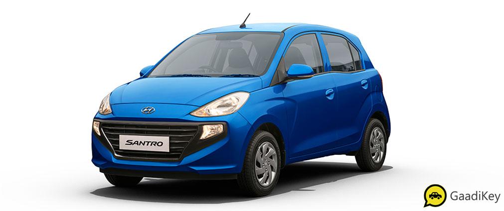 2019 Hyundai Santro Marina Blue Color- 2019 Hyundai Santro Blue Color