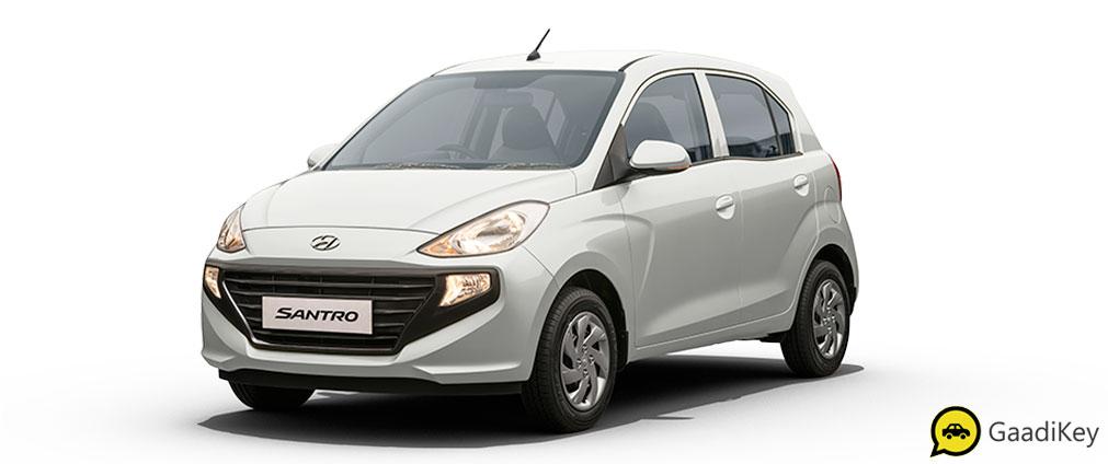 2019 Hyundai Santro Polar White Color - 2019 Hyundai Santro White Color