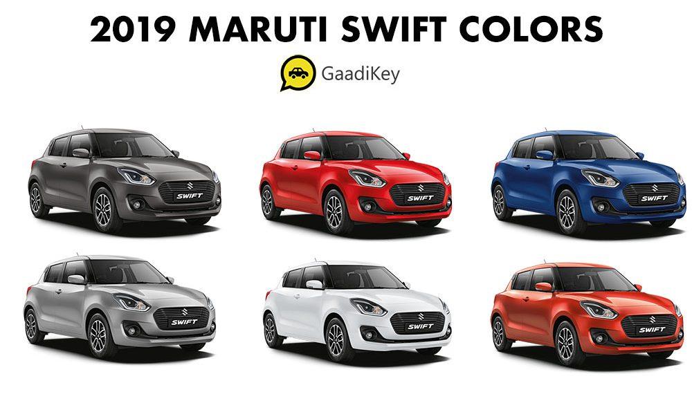 2019 Maruti Swift Colors: White, Red, Silver, Orange, Grey, Blue