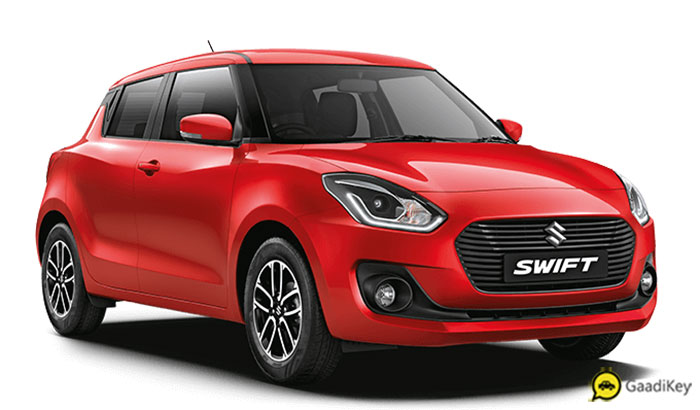 2019 Maruti Swift Red Color - 2019 Swift Fire Red Color Option