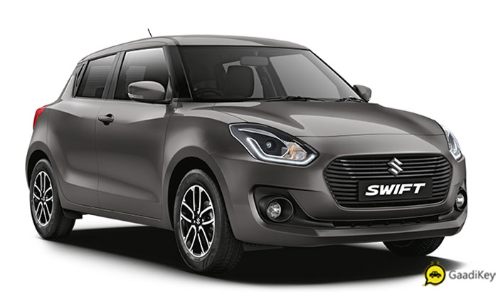 2019 Maruti Swift Grey Color Option