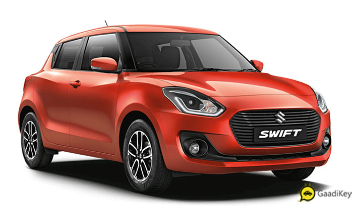 2019 Maruti Swift Orange Color