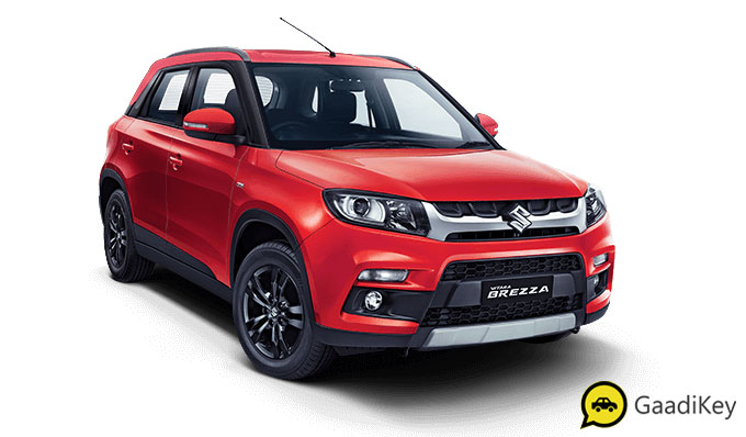 2020 Maruti Vitara Brezza Blazing Red Color - 2020 Maruti Brezza Red Color variant