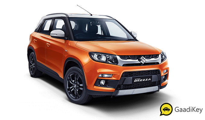 2020 Maruti Vitara Brezza Orange and White Dual Tone Color - New Brezza 2020 colors