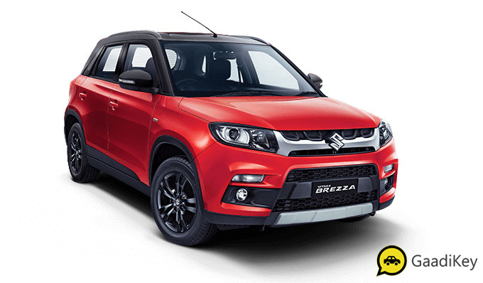 2020 Maruti Vitara Brezza Red and Black Dual tone Color - 2020 Brezza Dual tone red and black dual tone color