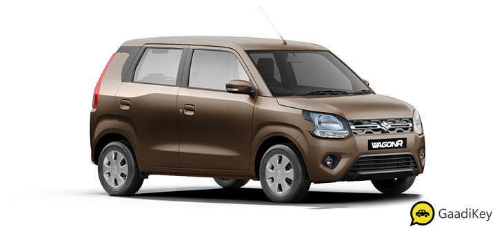 2019 Maruti Wagon R Nutmeg Brown Color - 2019 Maruti Wagon R Brown Color