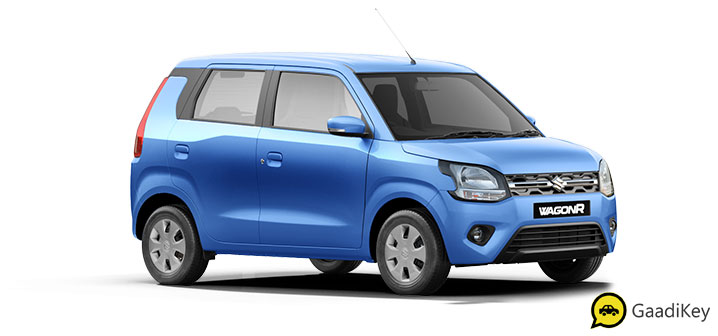 2020 Maruti WagonR in Poolside Blue Color. New 2020 Maruti Wagonr in blue color model.