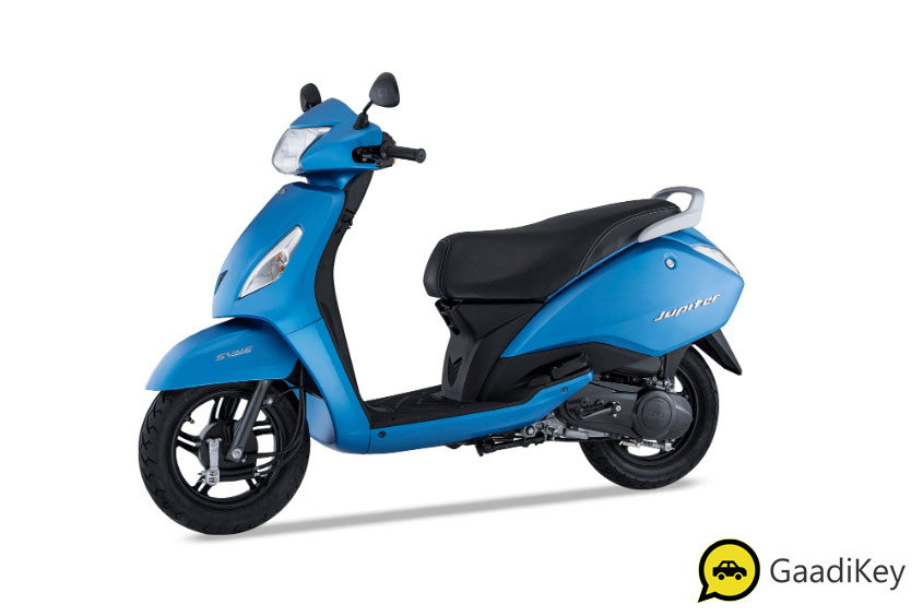 2019 TVS Jupiter Matte Blue Color - 2019 TVS Jupiter Blue Color - 2019 model Jupiter Blue color