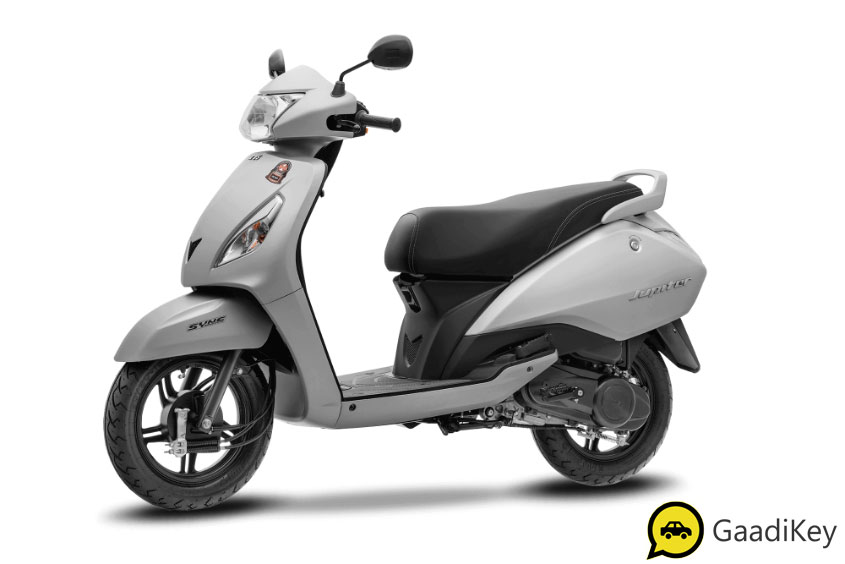 2019 TVS Jupiter Matte Silver Color - 2019 TVS Jupiter Silver Color - 2019 model TVS Jupiter Silver Color