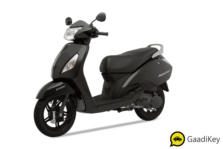 2019 TVS Jupiter Midnight Black Color - 2019 TVS Jupiter Black Color - 2019 Model Jupiter Black Color