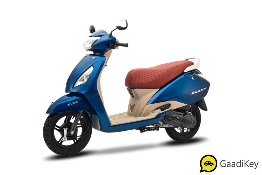2019 TVS Jupiter Starlight Blue Color - 2019 TVS Jupiter Grande Blue Color - 2019 Jupiter Grande model