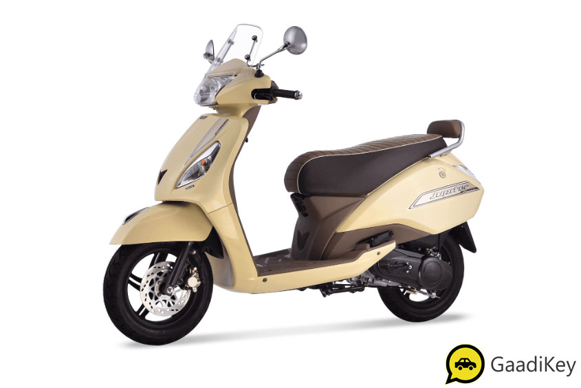 2019 TVS Jupiter Sunlit Ivory Color - 2019 TVS Jupiter Ivory Color - 2019 Model Jupiter Ivory Color