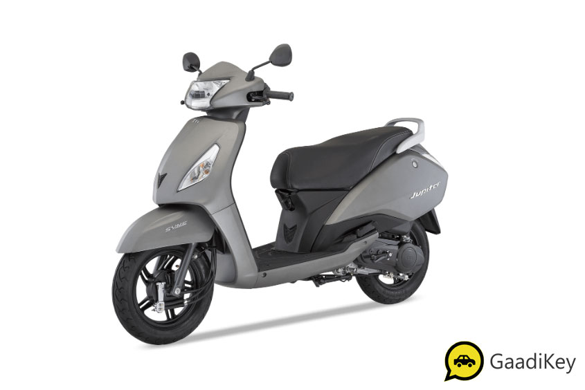 2019 TVS Jupiter Titanium Grey Color - 2019 TVS Jupiter Grey Color 2019 Jupiter Model Grey Color