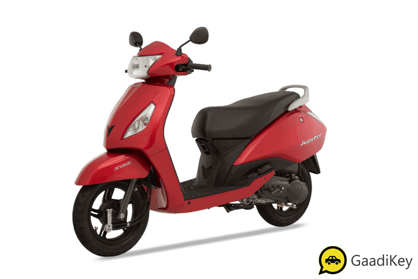 2019 TVS Jupiter Volcano Red Color - 2019 TVS Jupiter Red Color - 2019 Model TVS Jupiter Red Color