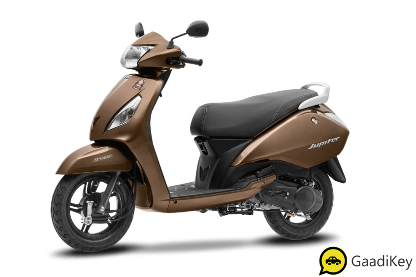 2019 TVS Jupiter Walnut Brown Color - 2019 TVS Jupiter Brown Color - 2019 Model Jupiter Brown Color