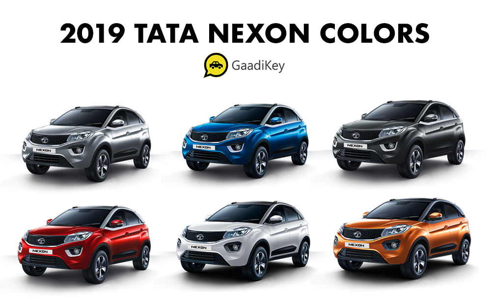 2019 Tata Nexon Colors - 2019 Tata Nexon All Colors