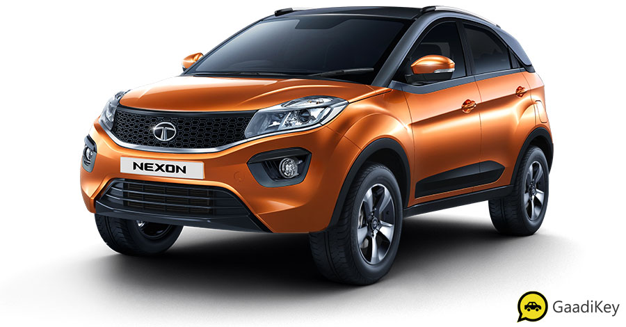 2019 Tata Nexon Etna Orange Color - 2019 Tata Nexon Orange Color