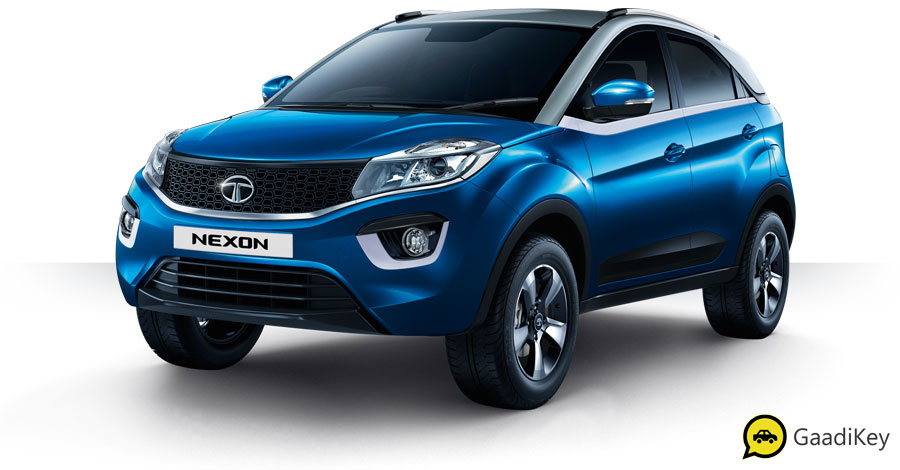 2019 Tata Nexon Moroccan Blue Color - 2019 Nexon Blue Color