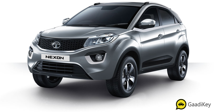 2019 Tata Nexon Seattle Silver Color - New 2019 Nexon Silver Color