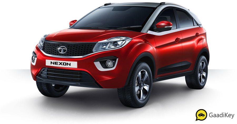 2019 Tata Nexon Red Color - 2019 Tata Nexon Vermont Red Color