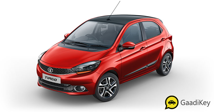 2019 Tata Tiago Red Color - 2019 Tiago Berry Red Color Option